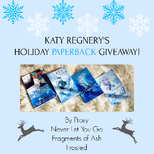 Signed paperbacks of BY PROXY, NEVER LET YOU GO, FRAGMENTS OF ASH and FROSTED