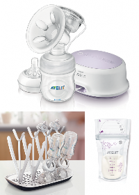 Single Breast Pump, a Drying Rack, and Milk Storage bags Giveaway!