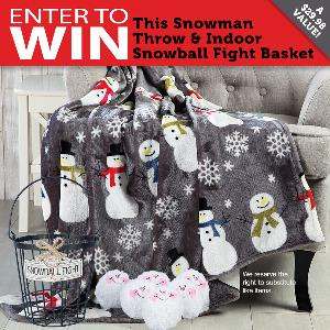 Snowman Throw & Snowball + Basket