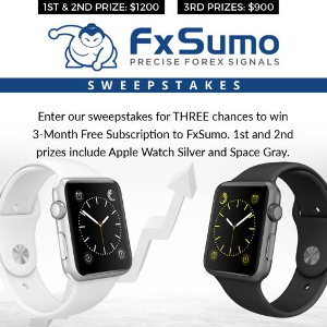 Space Gray or Silver Apple Watch + 3-Month Subscription to FxSumo
