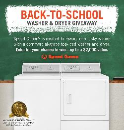 Speed Queen Washer & Dryer Giveaway