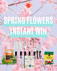 Spin to instantly win the Spring Flowers Instant Win Game. You have the chance to win 1 of 4 prizes for your garden or to start growing your own.