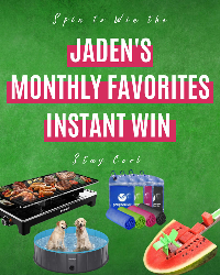 Spin to win a one of four Amazon items: Foldable Dog Pool; Watermelon Windmill Cutter; 4 Pack Cooling Towel  ; Raclette Grill Electric!