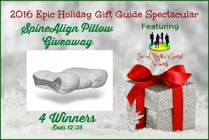 SpineAlign Pillow Giveaway – 4 Winners (12/25 US)