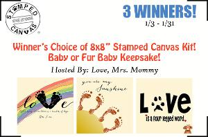 Stamped Canvas Kit Giveaway- 3 winners