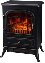 Standing Electric Wood Stove Fireplace Heater