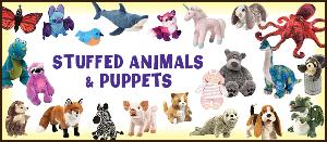 Stuffed Animals & Puppets Banner