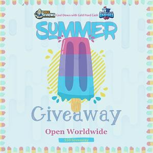 Summer Giveaway flyer with ice cream