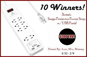 Surge Protector Power Strip Giveaway image