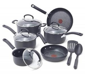 T-fal Ultimate Hard Anodized Non-stick 17-piece Black Cookware Set