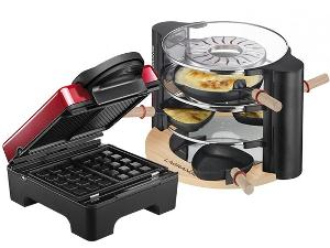 TARTI 3-PLATE WAFFLE MAKER AND A LAGRANGE EVOLUTION RACLETTE MAKER!""