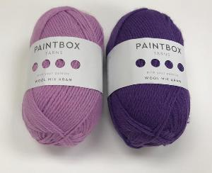 Tea Rose and Pansy Purple Paintbox Yarn Giveaway