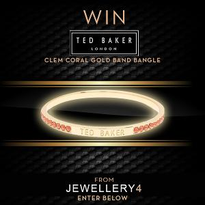 Ted Baker Clem Coral Gold Band Bangle