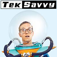 TekSavvy logo with a guy in space helmet