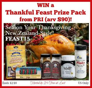 Thankful Feast Prize Pack from PRI Giveaway