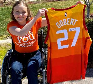 The signed Rudy Gobert jersey
