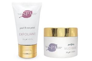 The Spa Dr.®Purifying Mud Mask + Pearl and Rose Petal Facial Exfoliant Giveaway