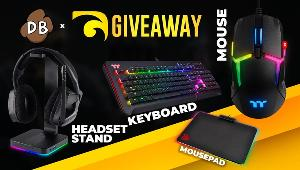 The winner will receive a care package from Thermaltake which includes a headset stand, keyboard, mousepad and a mouse!