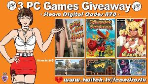 """This is a giveaway for 3 Pc (steam) Games, good luck to all: """"Girls Guns and Zombies"""" , """"Monster Sanctuary"""" & """"Nigate Tale"""" !!"""