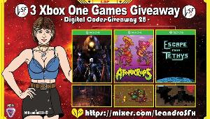 "This is a giveaway for: Game ""Hellpoint"" (Xbox One); Game """"Atomicrops"" (Xbox One) & Game """"Escape From Tethys"" (Xbox One)!!"