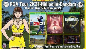 """This is a giveaway for: Game """"PGA Tour 2K21"""" (Xbox One); Game """"hellpoint"""" (Xbox One) & Game """"Dandara"""" (Xbox One)!!"""
