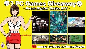 """This is a giveaway for: """"MazM: The Phantom of the Opera"""" (Steam); """"Macrotis: A Mother's Journey"""" (Steam) & """"Dragon Spirits : Prologue"""" (Steam)!!"""