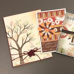 three greeting cards