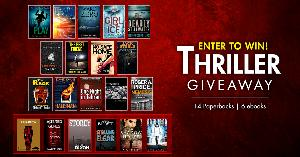Thriller Giveaway: 14 paperbacks to win and every entrant gets 6 free e-books!