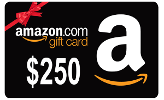 $250, $50 or $25 Amazon Gift Card