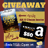 $50 Amazon gift card & first 5 books in the Chaos series by Patrick Higgins (see tour landing page for terms)