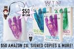 $50 Amazon Gift Card, Signed Books, Tote & Bookmarks