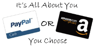 $50 Amazon Gift Code or Paypal Cash Giveaway