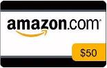 $50 Amazon or eBAy Gift Card