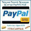 $50 PayPal Cash or Restaurant Gift Card
