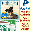 $55 PayPal Cash/Walmart/Starbucks Gift Car