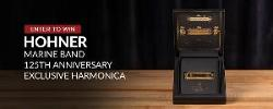 """""""Hohner Marine Band 125th Anniversary Exclusive Harmonica (Gold Plated) Giveaway"""