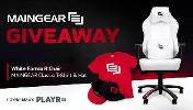 1 Grand Prize Winner Will Receive : MAINGEAR Forma R Gaming Chair – White/Black ,MAINGEAR Classic Hat – Black/Red & MAINGEAR Classic T-Shirt!