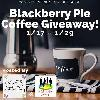 1 Lucky Winner will receive a 40 Coffee Pods Count Box of Slice Blackberry Pie Flavor Coffee!