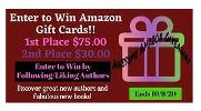 1st Place - $75 Amazon Gift Card & 2nd Place - $30 Amazon Gift Card