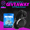 1st Prize(s):Steelseries Arctis 7 & $25 Fortnite V-Bucks Giftcard ; 2nd Prize(s):  $25 Fortnite V-Bucks Giftcard