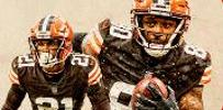 2 browns football players