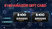 2 WINNERS WILL WIN A $100 AMAZON GIFTCARD EACH!!