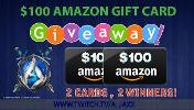 2 WINNERS WILL WIN A $100 AMAZON GIFTCARD!!