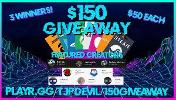 3 Winners will win a $50 Giftcard of their choice!
