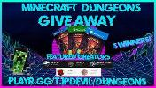 3 Winners Will Win A Copy Of Minecraft Dungeons Each!!