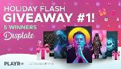 5 winners will win a Displate of Choice (M or L)!