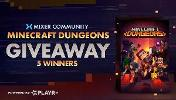 5 WINNERS WILL WIN :Minecraft Dungeons-  Available on PC, Xbox One, Playstation 4 & Nintendo Switch!