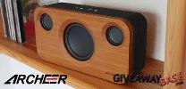 ARCHEER Wireless Bluetooth Bamboo Speaker