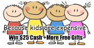 Because Kids are Expensive $25 Cash Giveaway Plus More Free Gift