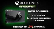 CHANCE TO WIN A XBOX ONE X CONSOLE